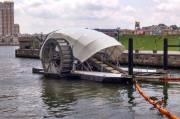 This water wheel is the most promising solution to ocean plastic